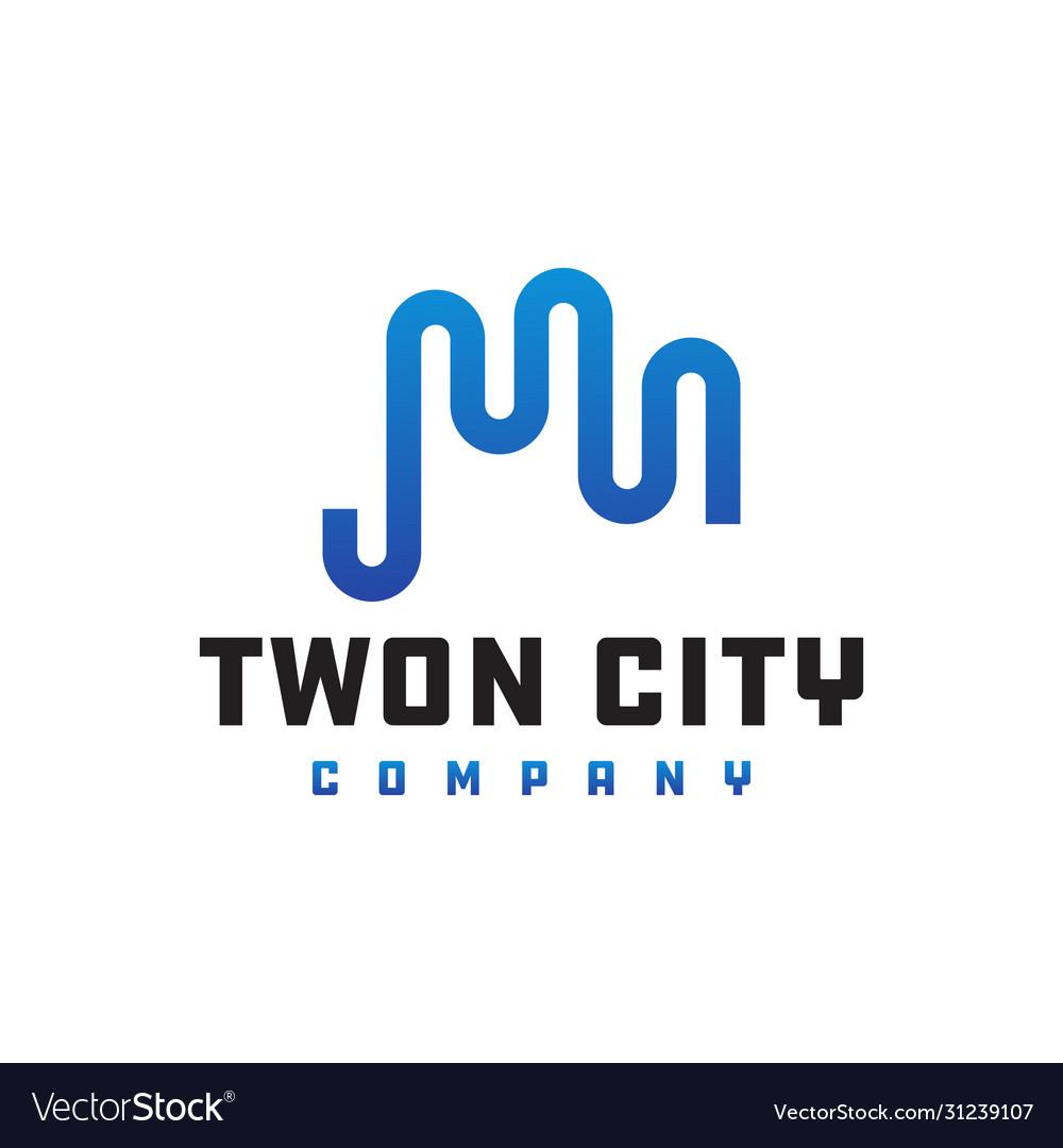 Outline city logo