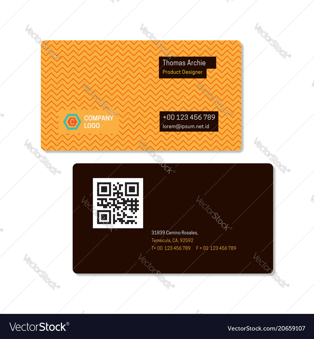 Zig zag pattern elegant name card template