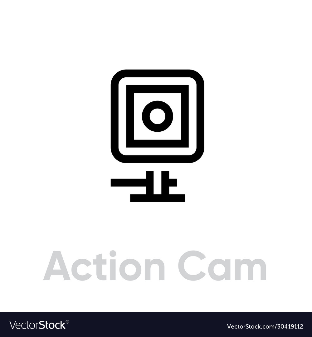 Action cam icon camera for active sports
