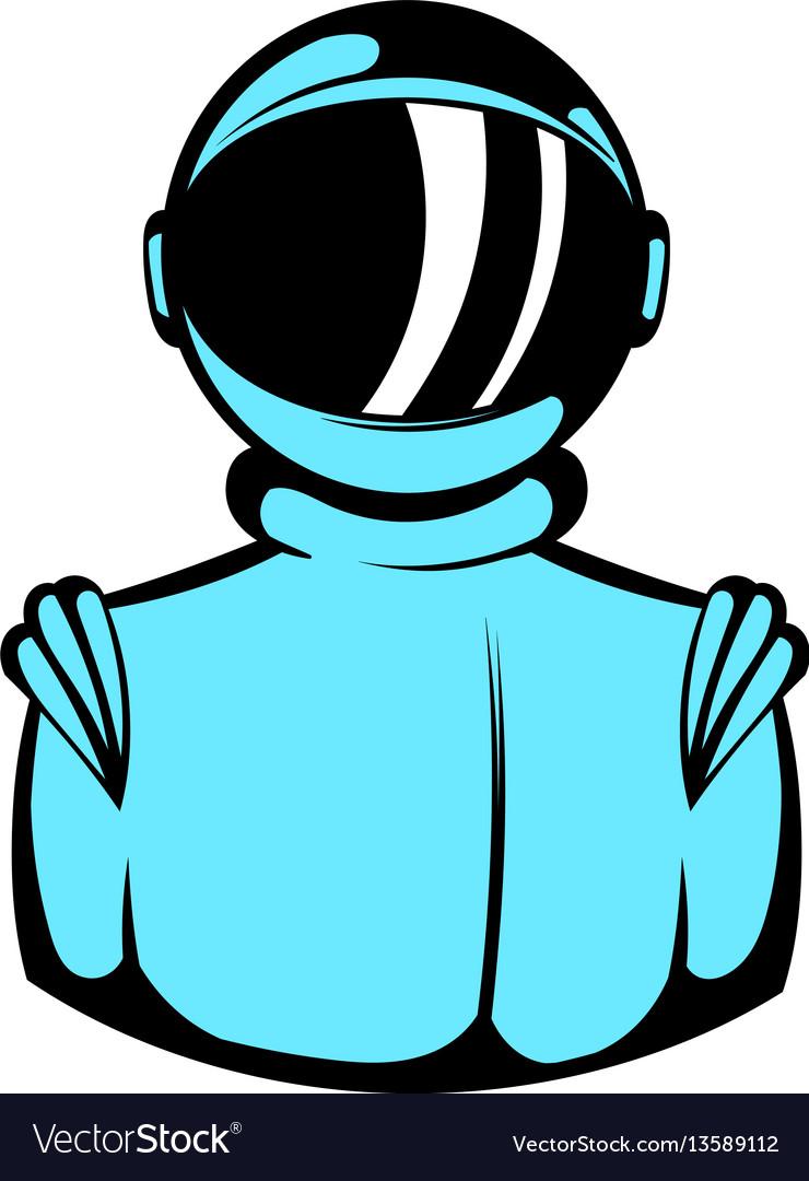 Astronaut in spacesuit icon icon cartoon
