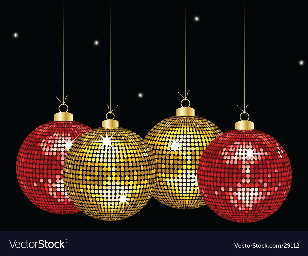 Christmas mirror bauble background vector image