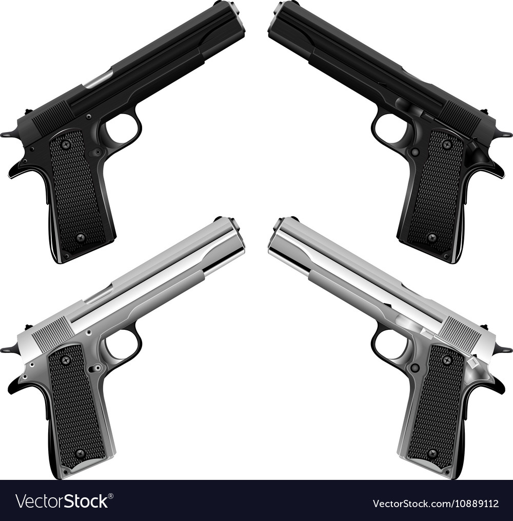 Classical an automatic pistol Colt vector image
