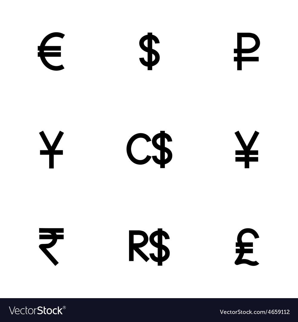 Symbol Icon Set Royalty Free Vector Image