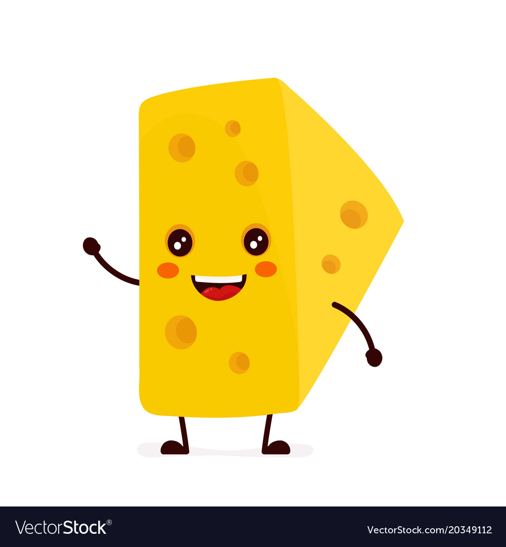 funny happy cute smiling cheese royalty free vector image