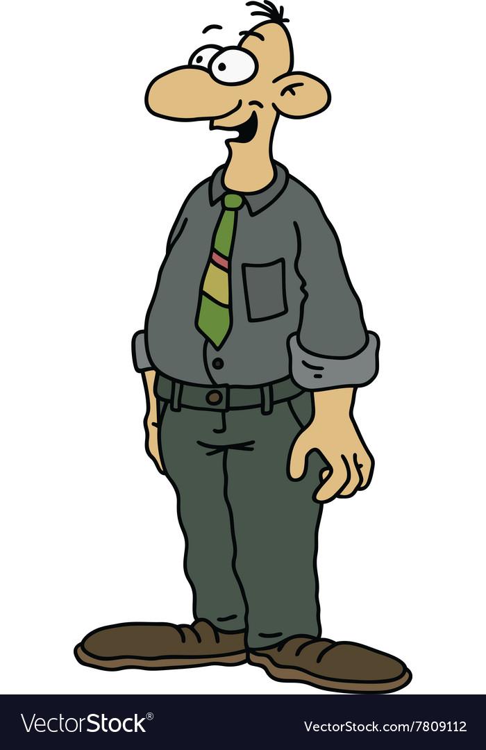 Funny man in dark vector image