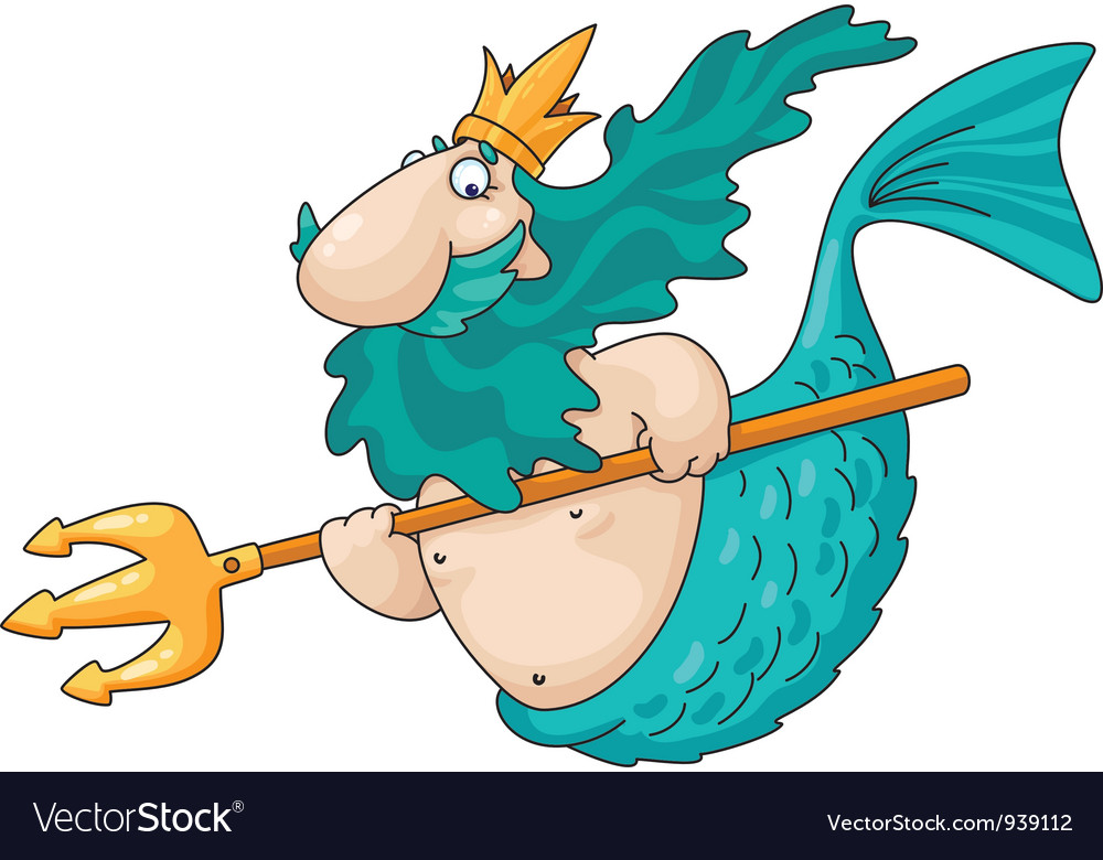 Merman vector image