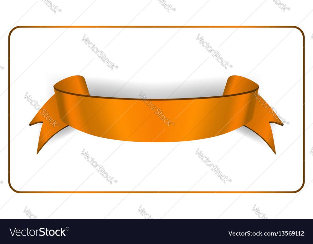 Ribbon banner satin blank