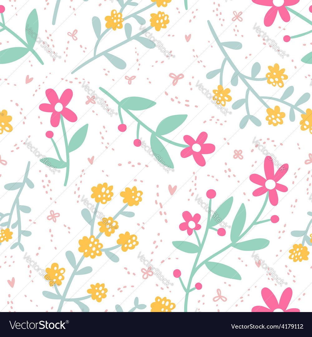 Spring mood repeat floral pattern