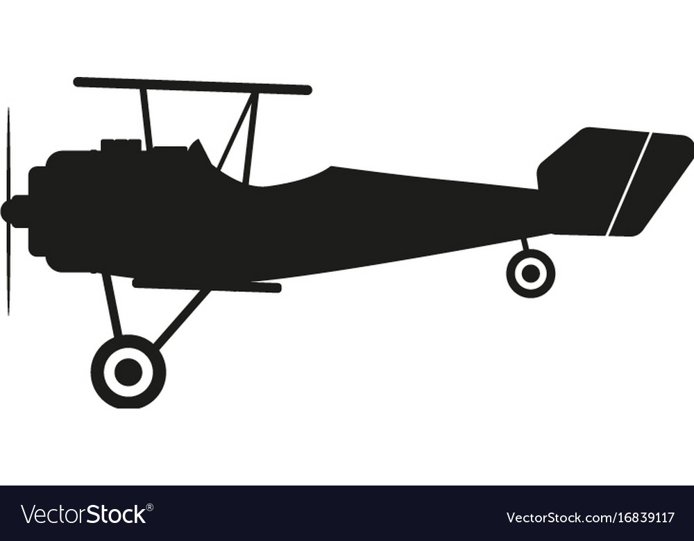 Aircraft sign black icon on
