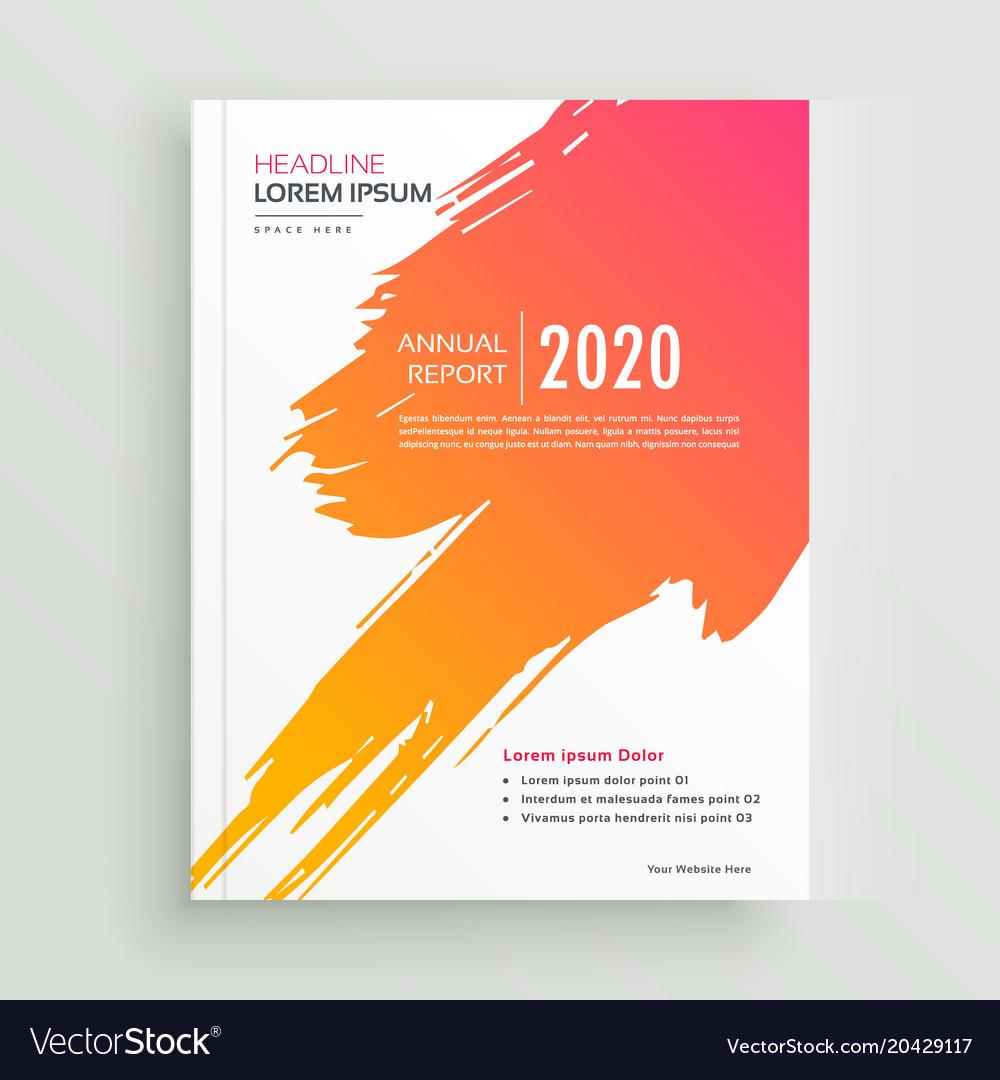 Creative orange paint stroke brochure design
