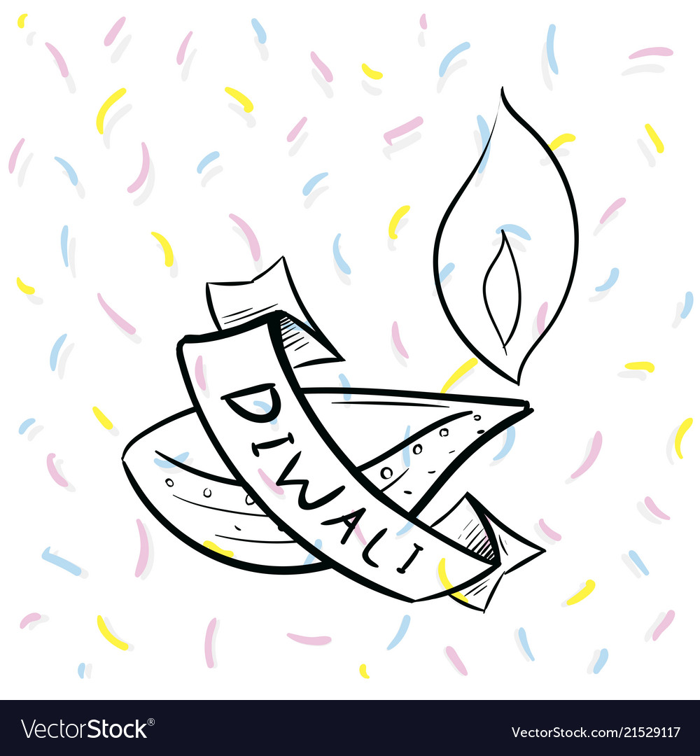 Happy diwali typography
