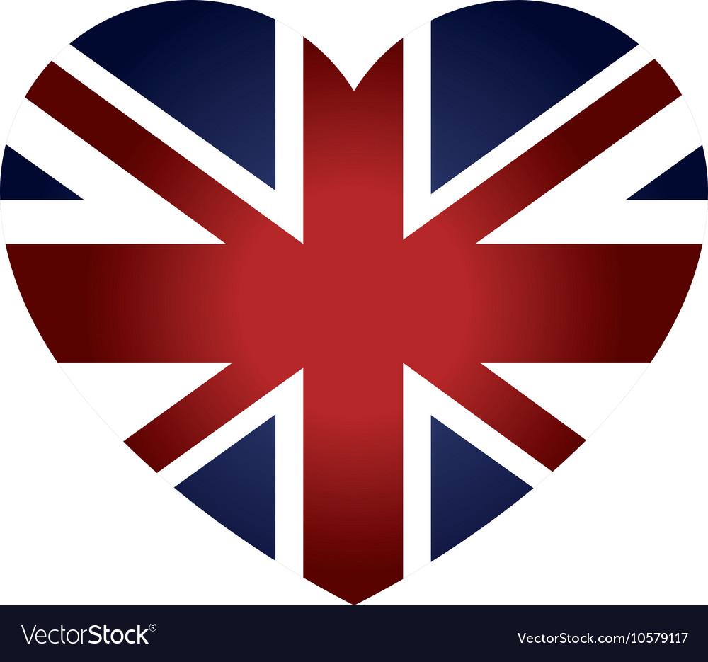 London City Flag In Heart Shape Vector Image