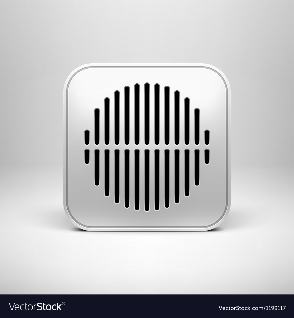 Technology Blank App Icon Template Royalty Free Vector Image
