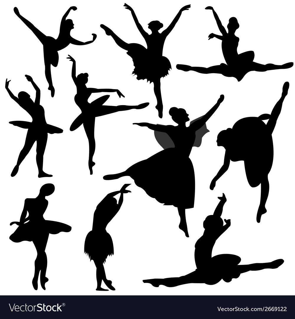 Ballet ballerina silhouette