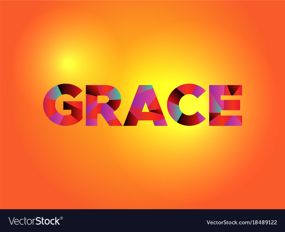 grace theme word art royalty free vector image