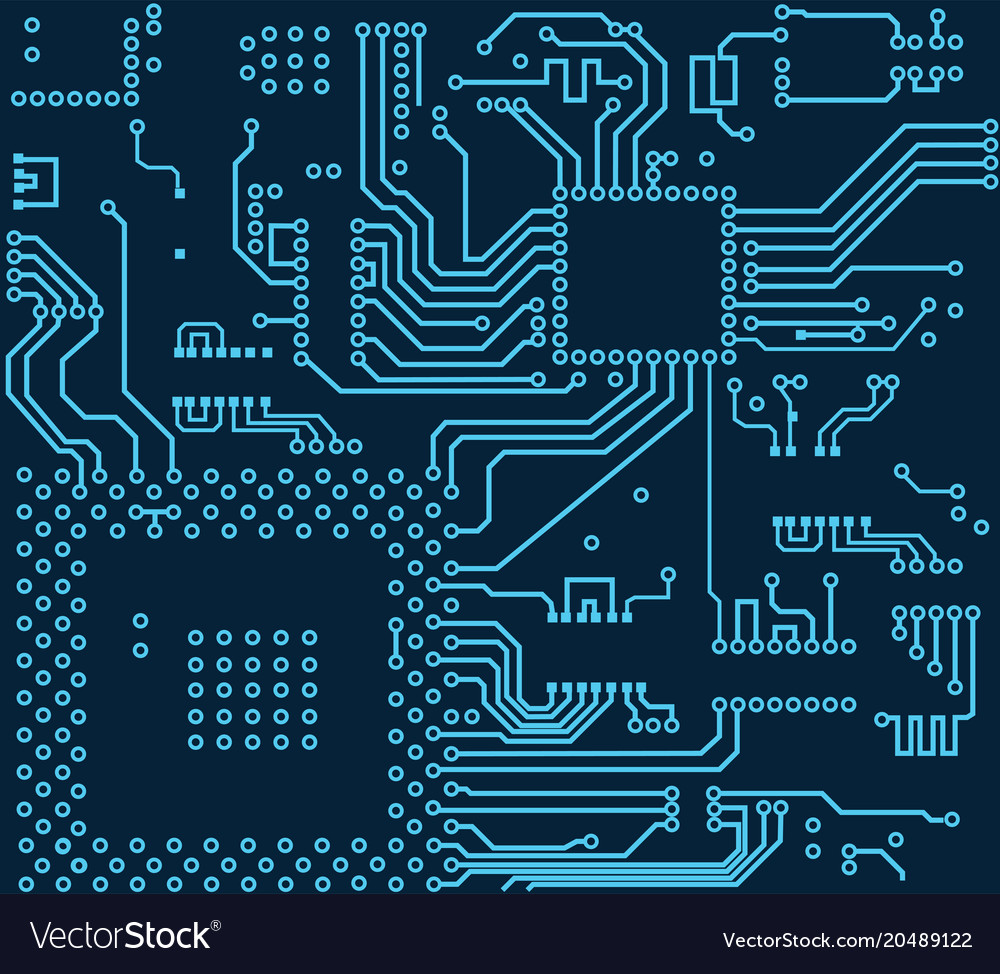 High Tech Electronic Circuit Board Royalty Free Vector Image Photo Of Abstract Blue Background With