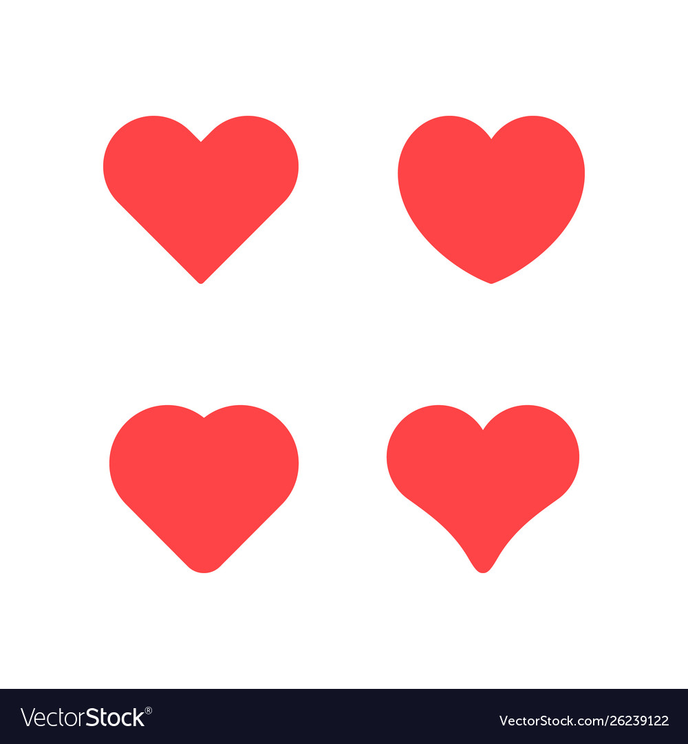 Set icons heart and love concept