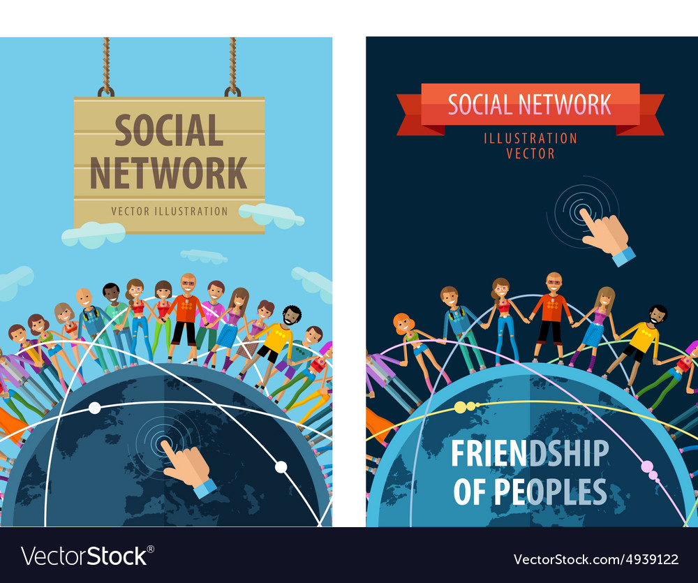 Social network logo design template