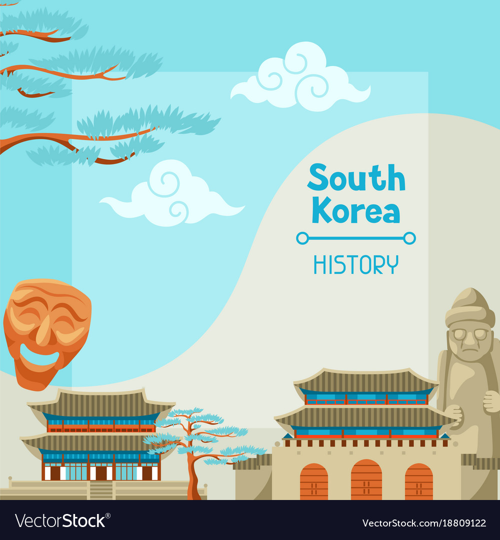 south korea history korean banner design vector image vectorstock