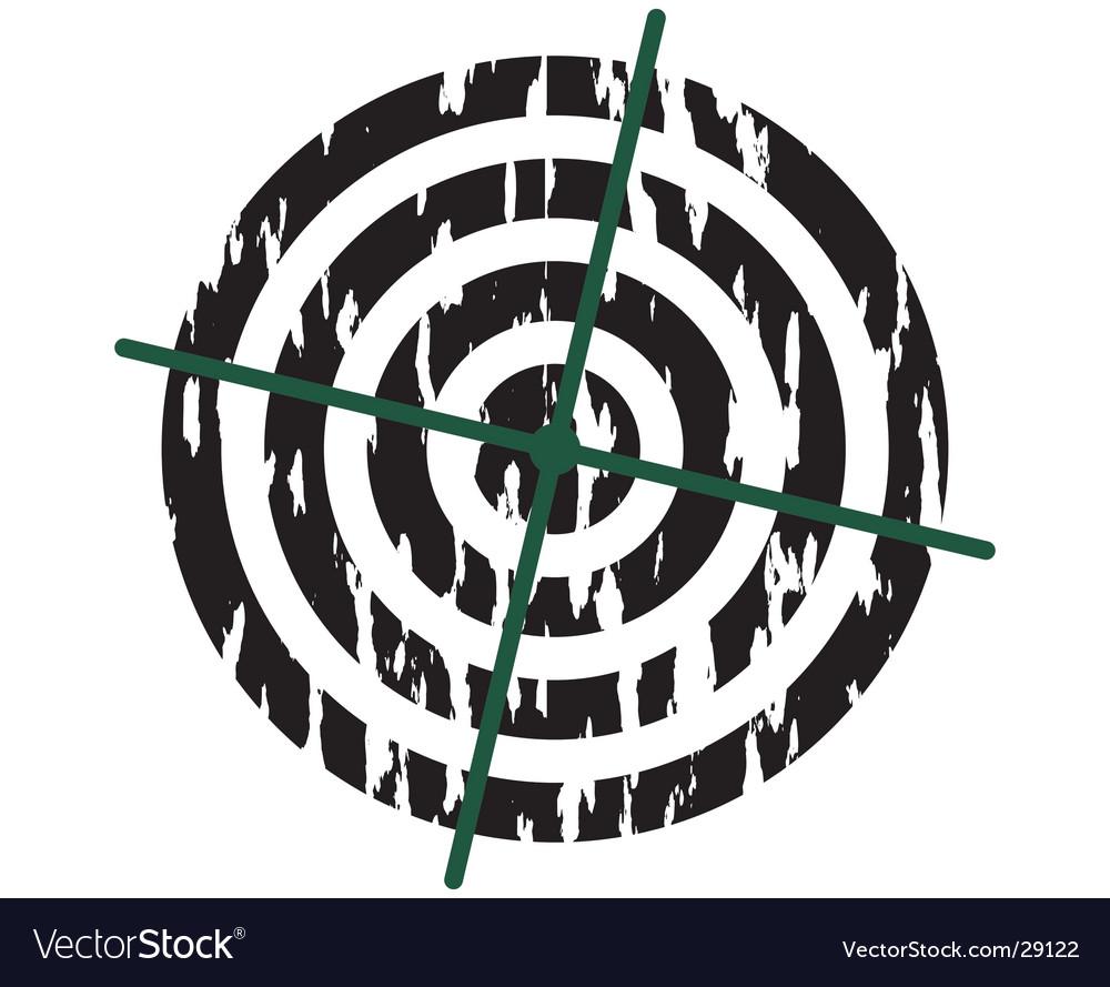 Target symbol grunge vector image