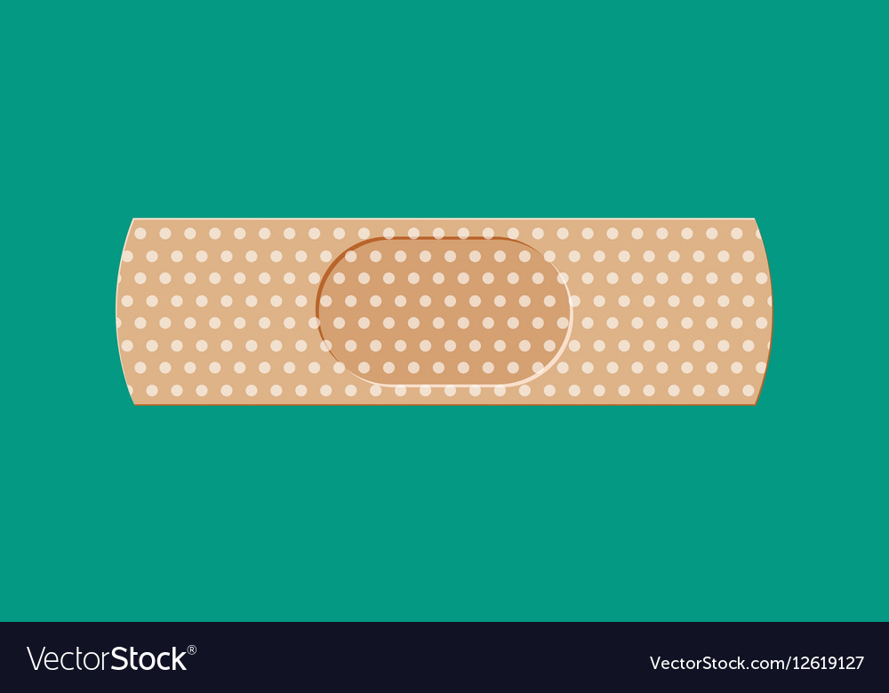 Aid medical plaster vector image