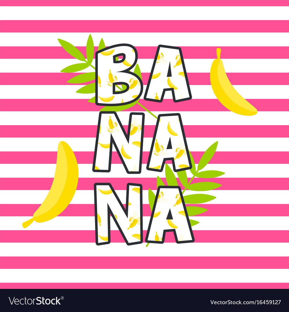 Banana tshirt design print
