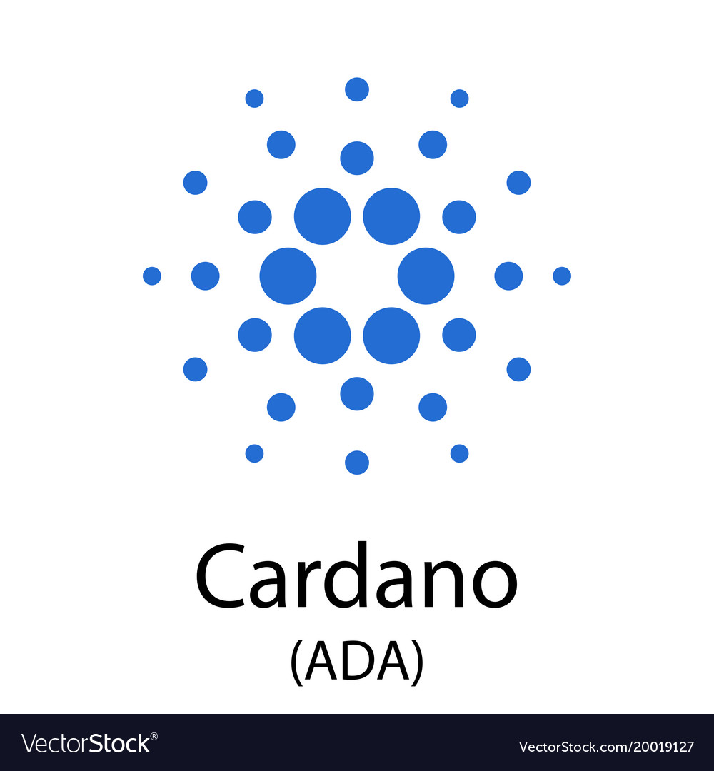 Cardano Cryptocurrency Symbol Royalty Free Vector Image