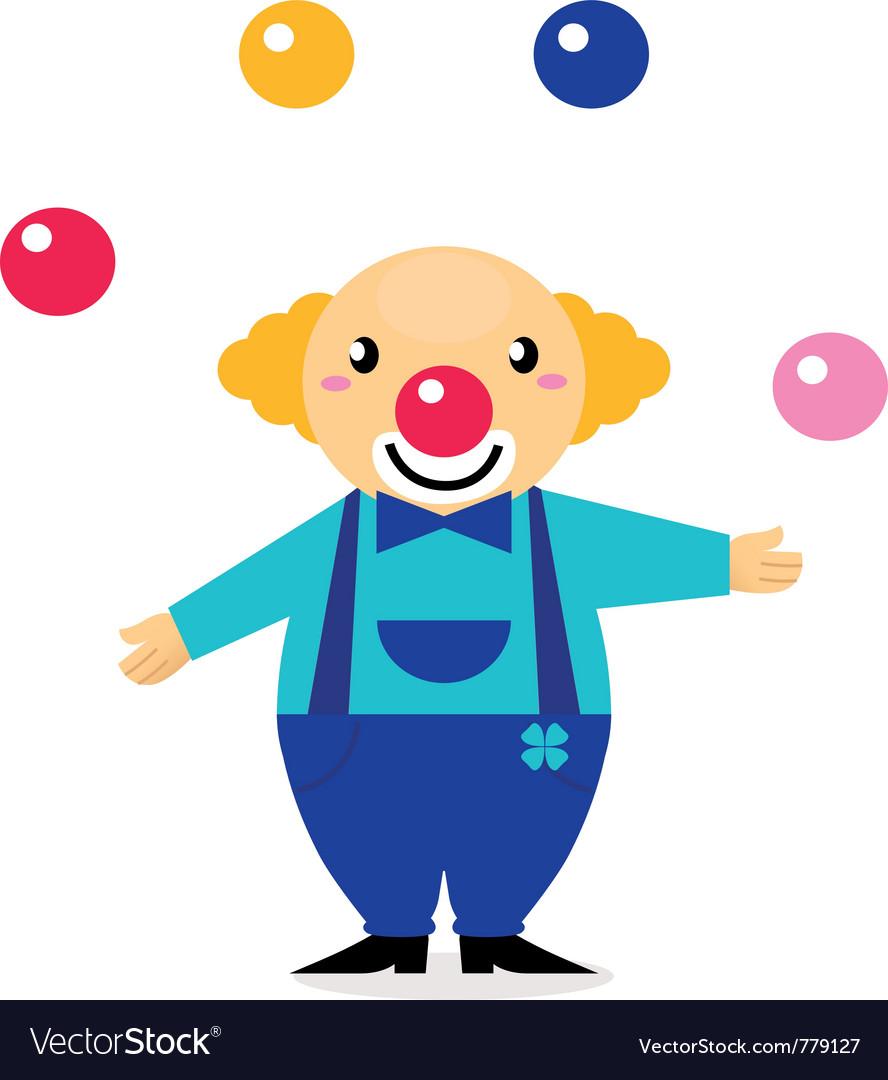 Cartoon clown character
