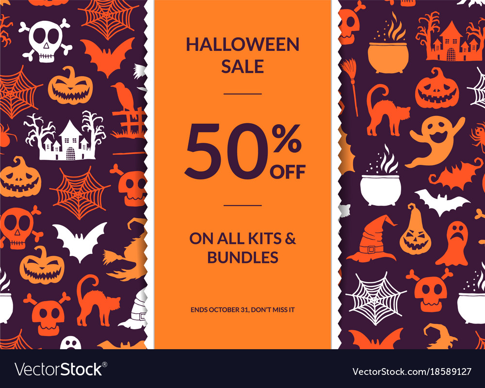 Halloween background with vertical