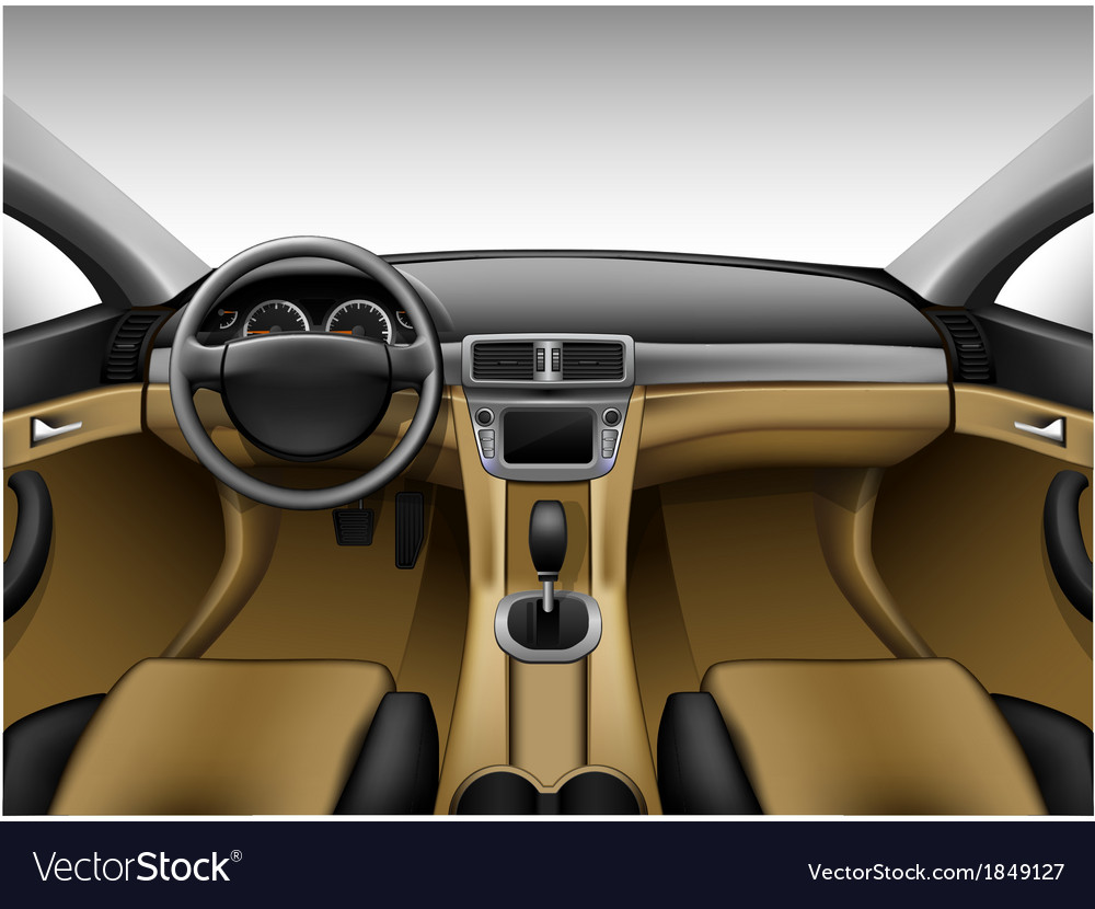 Light Beige Leather Car Interior Royalty Free Vector Image