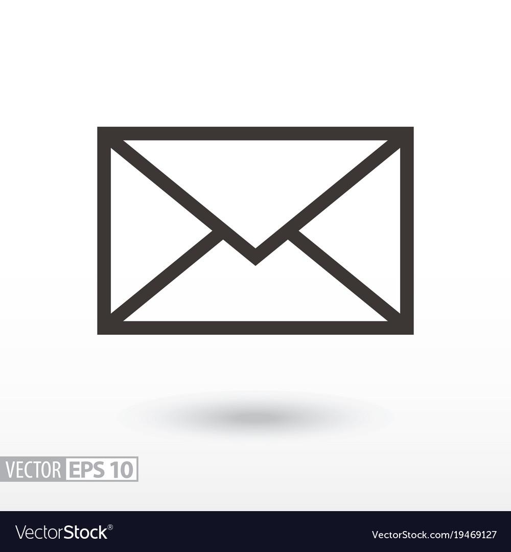 message flat icon sign envelope royalty free vector image rh vectorstock com envelope vector icon envelope vector template illustrator