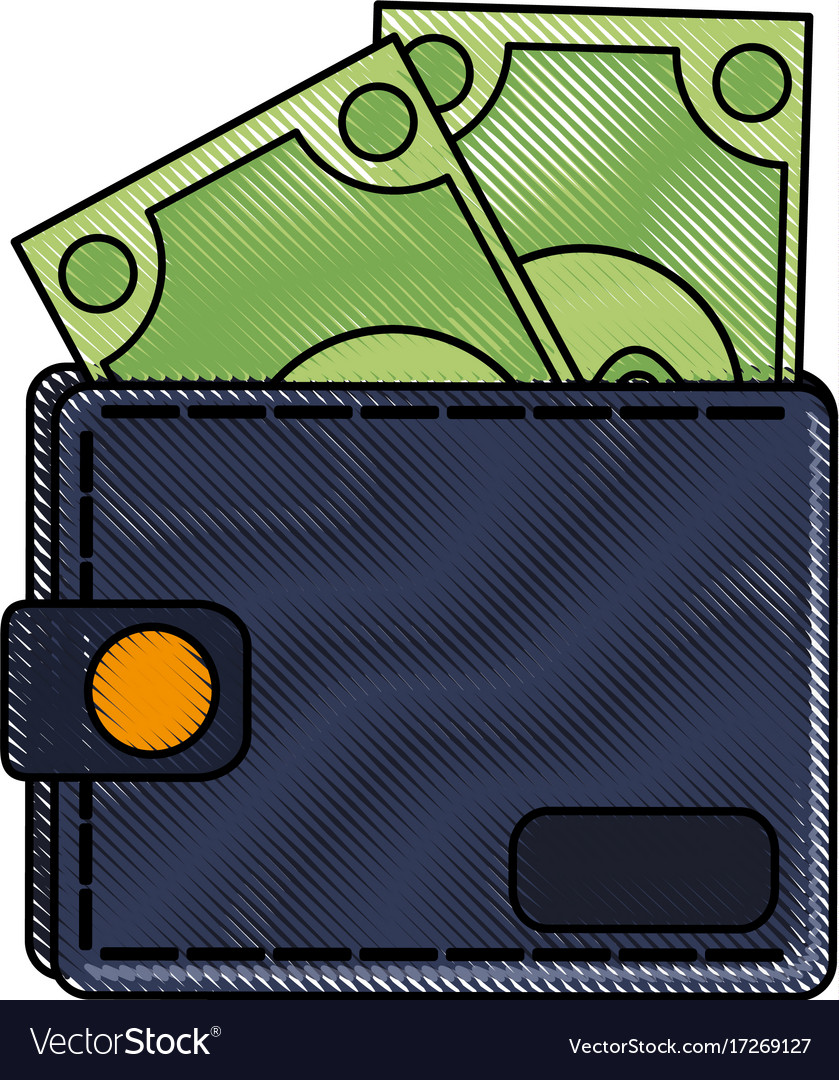 Money wallet isolated