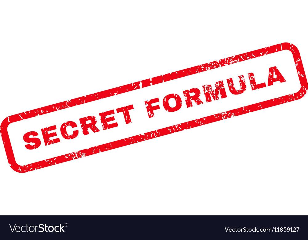 Secret Formula Rubber Stamp vector image