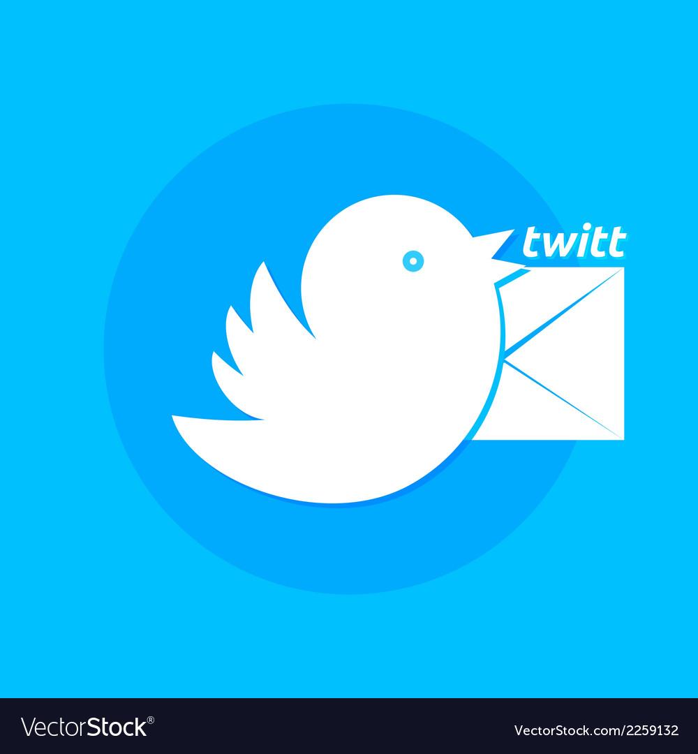 Bird letter message vector image