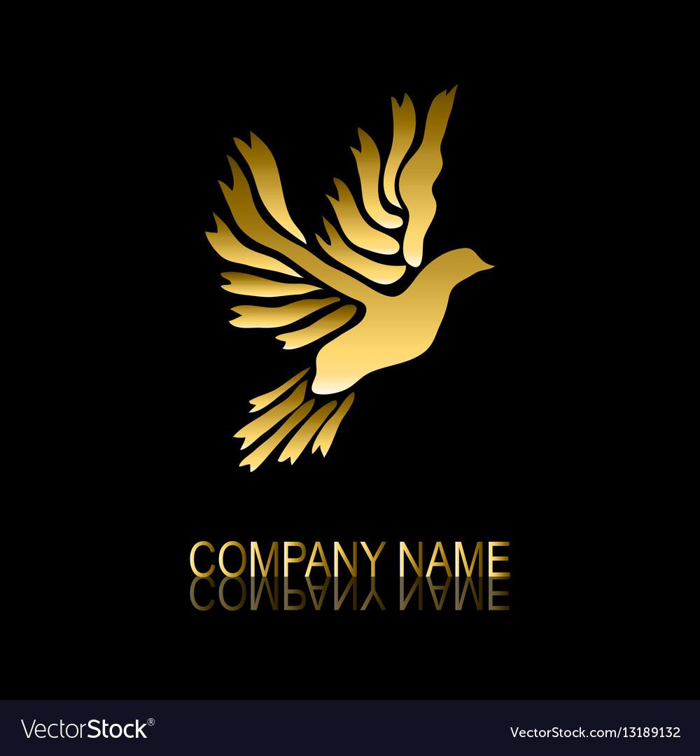 Golden dove symbol