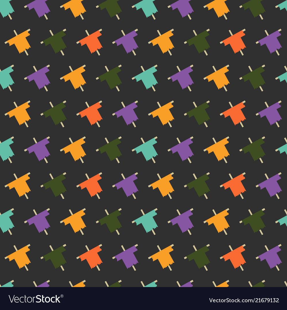 Halloween seamless pattern with colorful