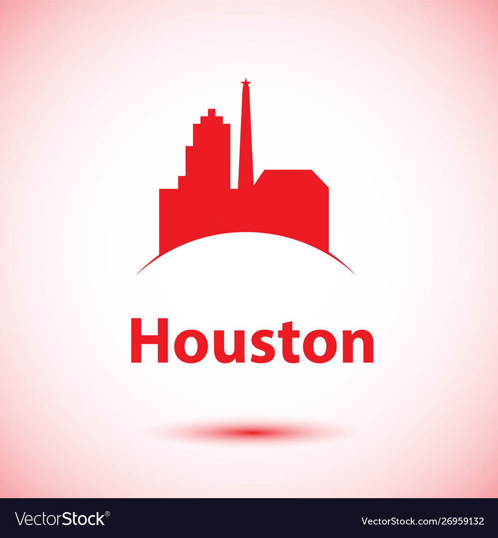 Houston usa detailed silhouette vector