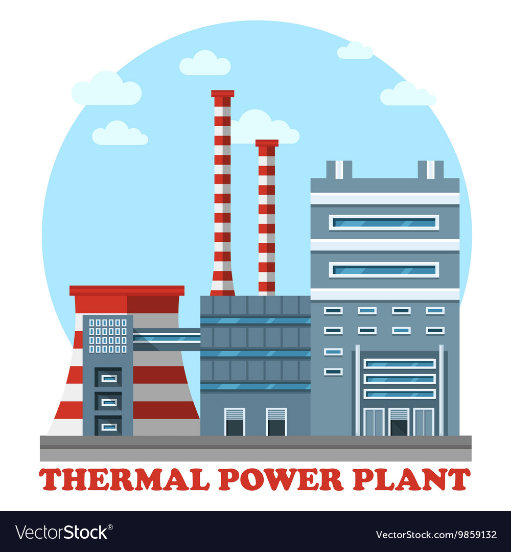Thermal power station and plant for heating