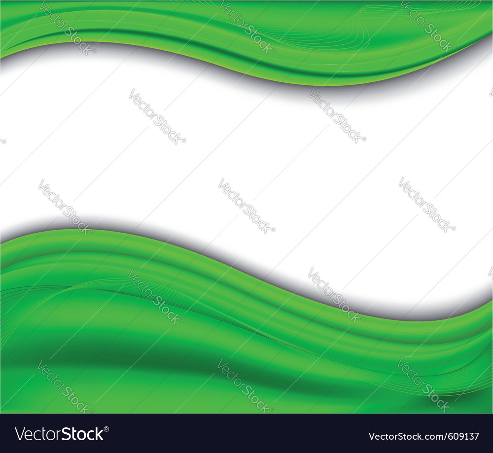 Abstract Green Background Wave