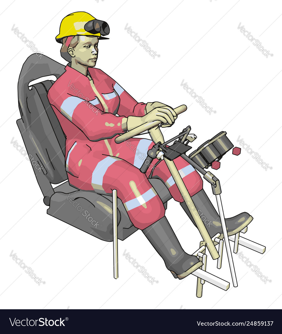 Car test dummy in pink jump suit on white