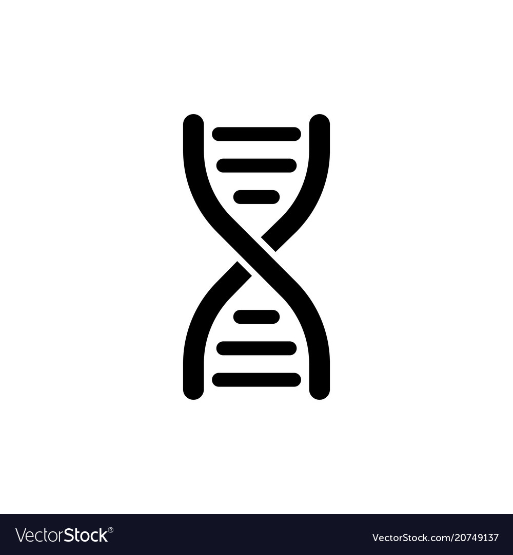 Dna flat icon
