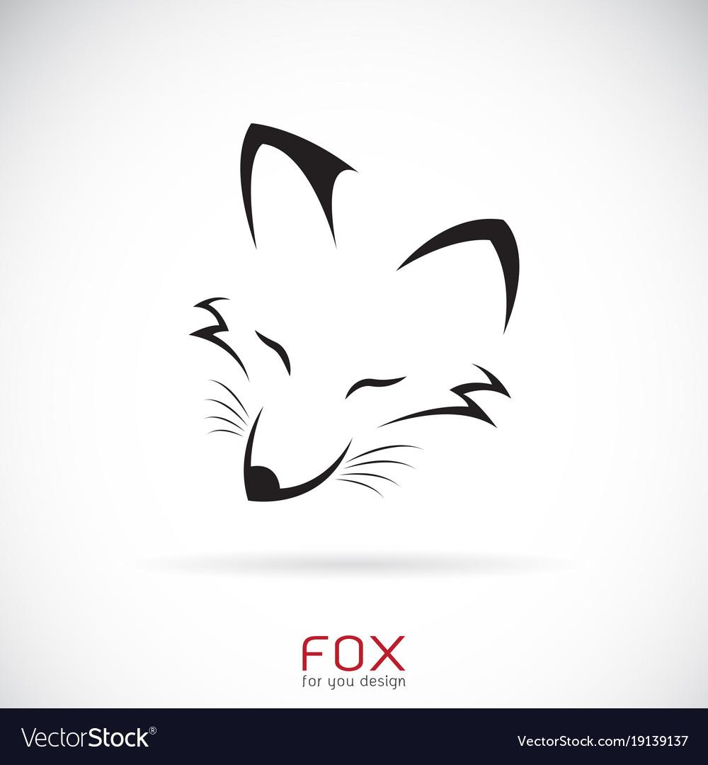 Fox face design on a white background wild