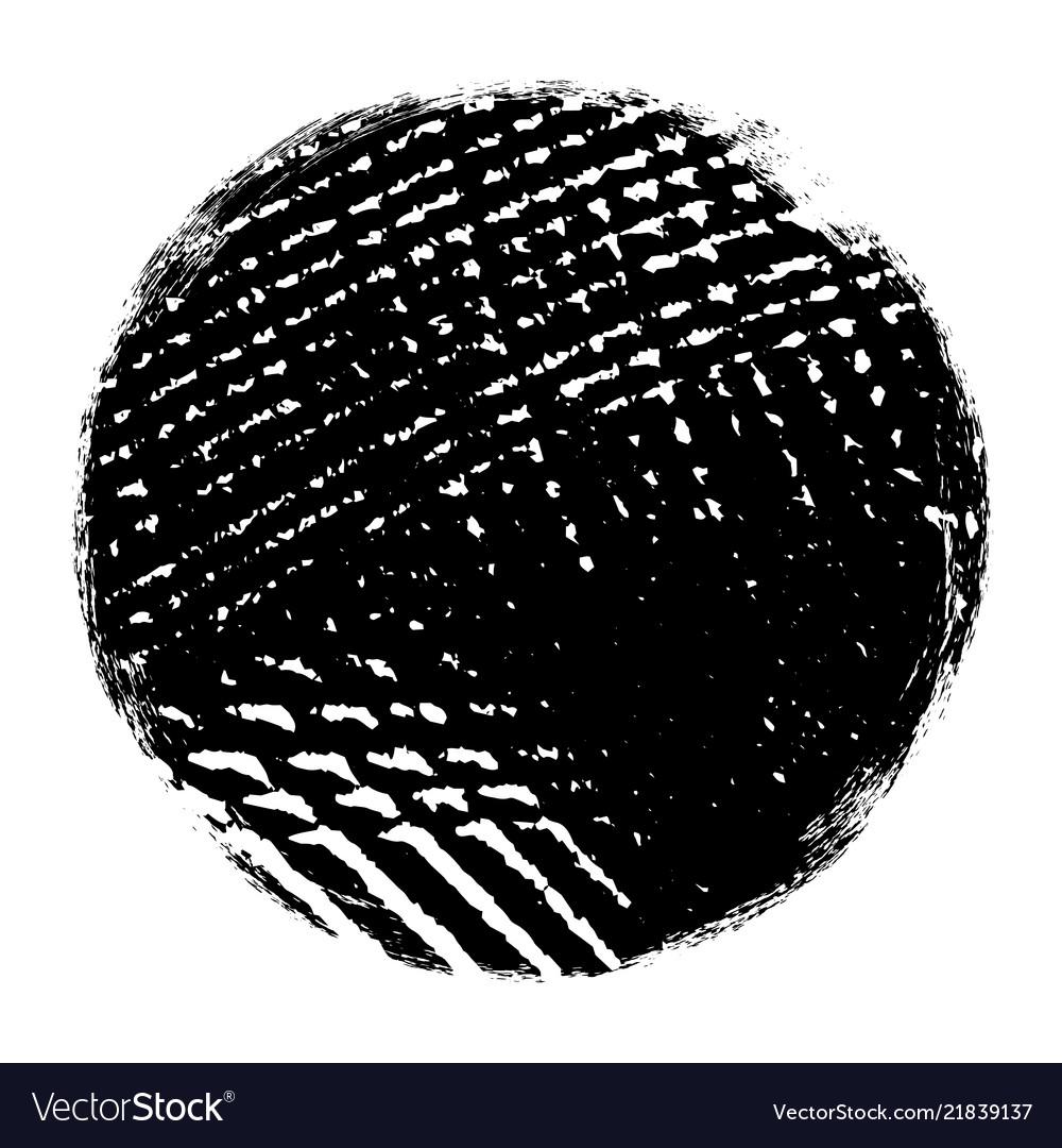Grunge circle isolated