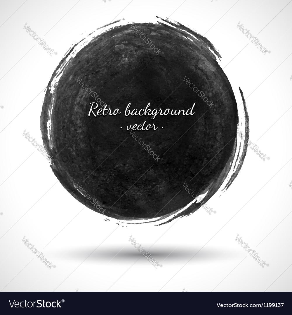 Grunge Round Shape vector image