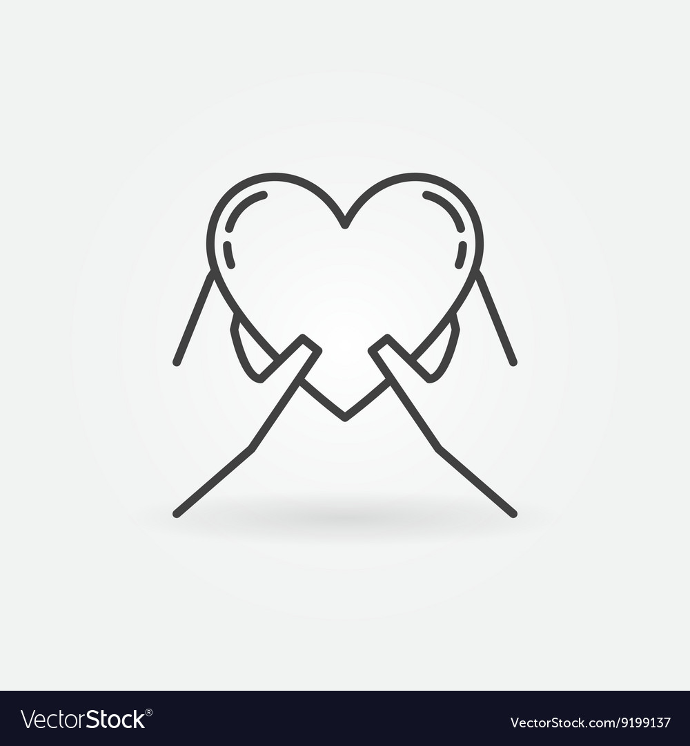 Hands holding heart icon