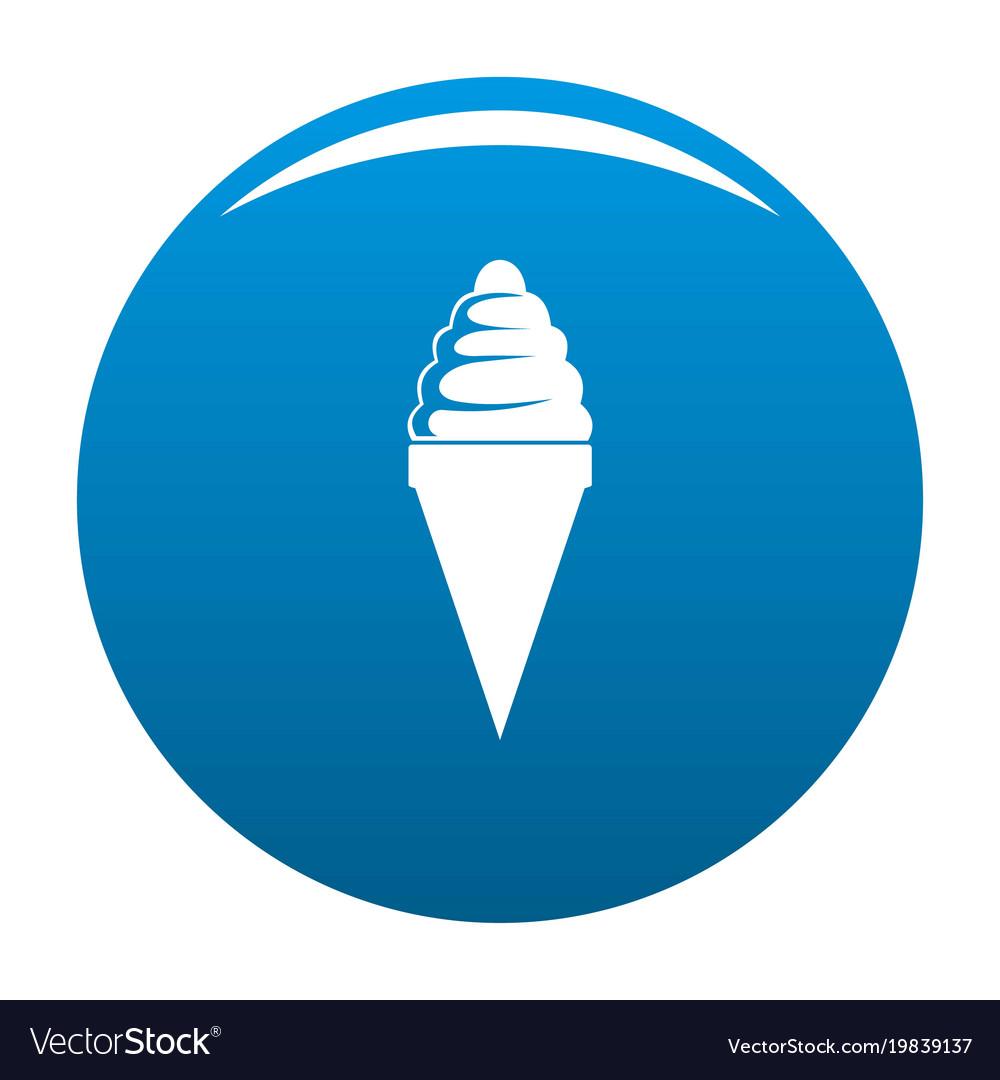 Ice cream icon blue