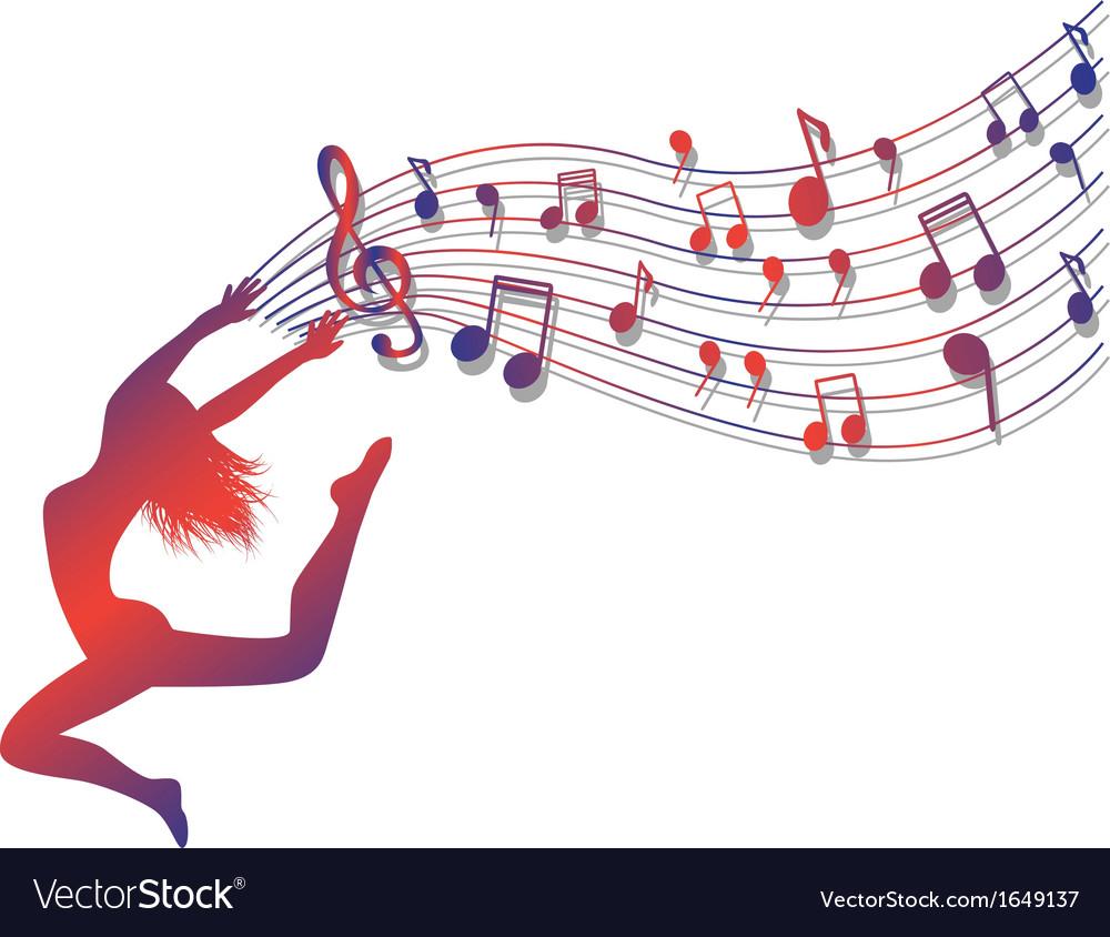 Musical ecstasy vector image