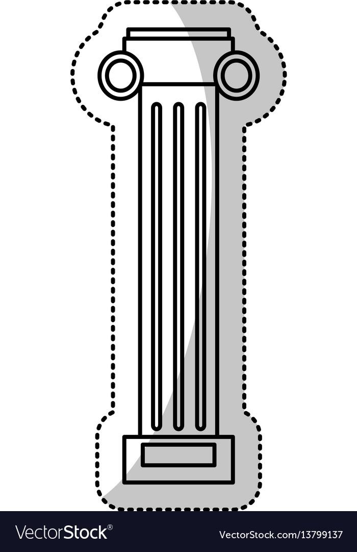 Pilaster column decoration outline