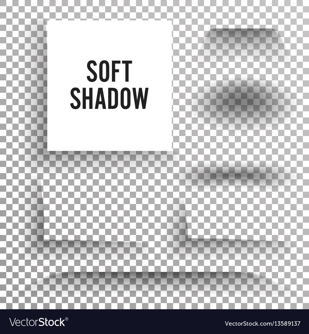 Transparent soft shadow set element with