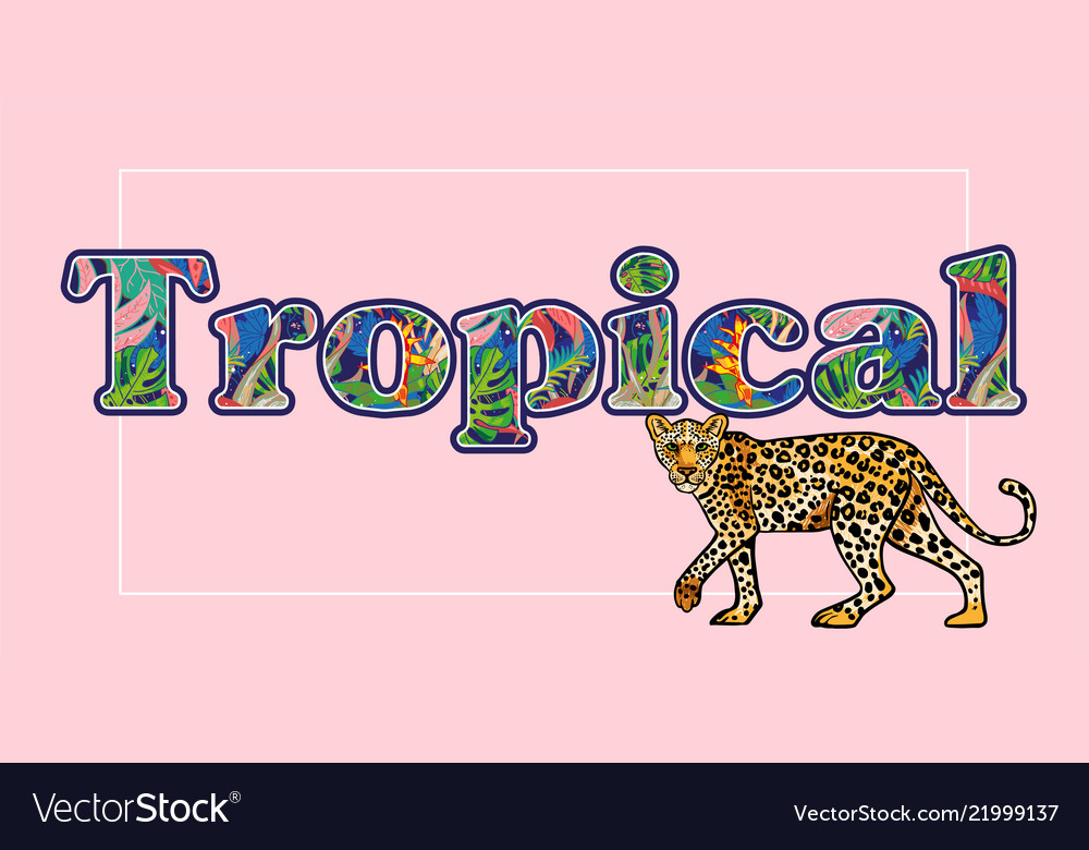 Tropical leopard print